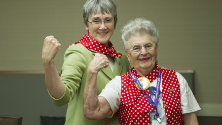 The Honorable Secretary Heather Wilson and Ms. Mae Krier