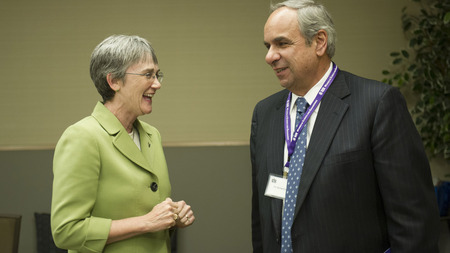 The Honorable Secretary Heather Wilson and the Chief Scientist of the Air Force, Dr. Richard Joseph
