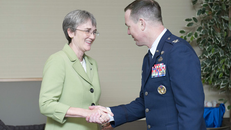 The Honorable Secretary Heather Wilson and Colonel Stephen Gorski